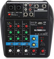 XTUGA A4 4-Channel Bluetooth Audio Mixer