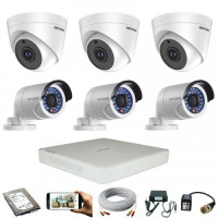 CCTV Package Dahua 8-CH DVR with 6-Pcs Hikvision Camera