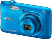 Nikon Coolpix S3600 20.1MP 8x Zoom Nikkor Lens Camera