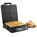 VonShef Belgian Non-Stick Cool Touch Handle Waffle Maker