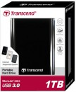 Transcend StoreJet 25D3 1TB USB 3.0 Portable Hard Disk Drive