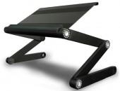 Laptop Table T9 Aluminium Alloy Surface USB Cooling Fan