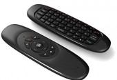 Black Wireless 3-In-1 Air Mouse Remote Keyboard C120