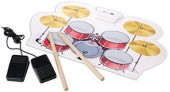 Digital Electronic 9 Pad Drum Roll Set High Quality Sound