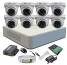 Hikvision DS-7108HGHI-E1 HDCVI Monitor 8 CC Camera