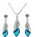 Platinum Plated Austrian Jewelry Set