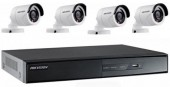 CCTV Package Hikvision DS-7104HGHI-F1 4-CH DVR 4-Camera