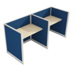 Low Height Fabrics 50mm Office Partition