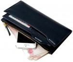 Bogesi MLW3CL201510 Long Black Genuine Leather Wallet