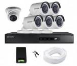 CCTV Package Hikvision 8CH DVR 6Pcs Night Vision Camera