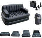Inflatable 5-in-1 Double Air Bed Sofa Cum Chair