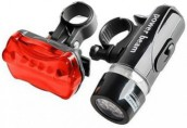 Bicycle Head and Tail Wide Beam Long Run Bright Light Kit