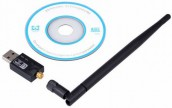 Wireless N 300Mbps USB LAN Card with Antenna / CD Driver
