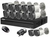 CCTV Package Dahua DVR 16-CH 2TB HDD 12 2MP Camera