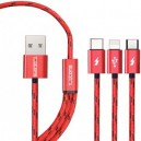 Teutons 3-in-1 USB Data Cable