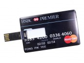 Bank Credit Card Shape 4 GB USB 2.0 Pen Drive