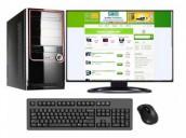 "Desktop Core 2 Duo 4GB RAM 500GB HDD 17"" LED Monitor PC"