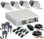 CCTV Package 4-CH Hikvision DVR 4-Pcs Camera 500GB HDD