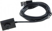 USB Cable Mini Spy Button Camera Black Color