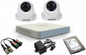 CCTV Package Hikvision 4-CH DVR 2-PCS Camera 500GB HDD