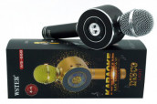Wster WS-668 Bluetooth Karaoke Microphone with Disco Light
