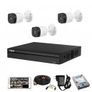 CCTV Package Dahua 4CH XVR 3-Pcs Camera 500GB HDD