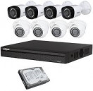 CCTV Package 8CH DVR 8 Piece 2MP HDTVI Camera