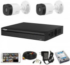 CCTV Package with 4CH DVR and 2 Pieces Camera