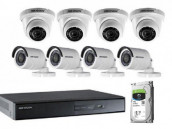 CCTV Package 8-CH Hikvision XVR 8-Pcs Camera 500GB HDD