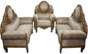 Stylish 5 Seat Segun Wood Sofa Set