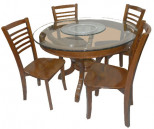 Round Wooden 4 Seater Dining Table DL90F