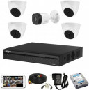 CCTV Package Dahua XVR1A08 8-CH DVR 500GB HDD