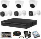 CCTV Package Dahua XVR1A08 8-CH DVR 2MP HD Camera
