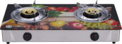 Circle 2 Burner Auto Gas Stove with 3D Paint