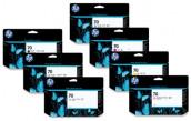 HP 70 130-ml Designjet Z5400 Printer Cartridge Set