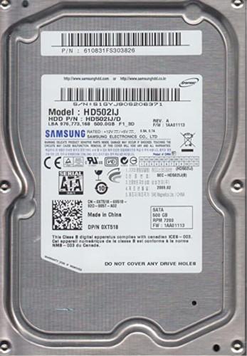 Samsung HD502IJ 500GB Hard Disk