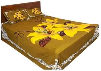 Double Size Cotton Bed Sheet In, What Size Is A Double Bed Sheet In Inches