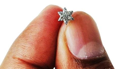 7 Star 9 Cent Diamond Nose Pin