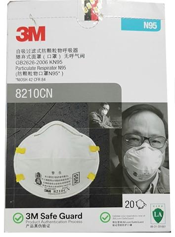 3M N95 8210CN Respirator Face Mask