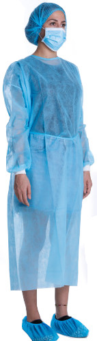 Comfortable Polypropylene Isolation Gown