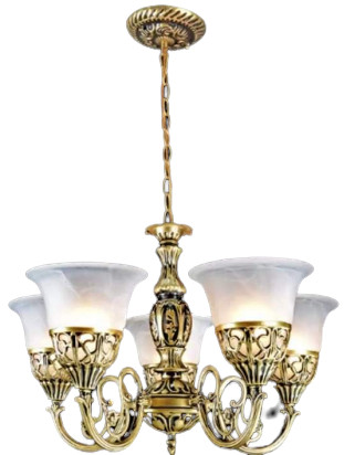 Vantage Antique Gold Chandelier Ceiling Light