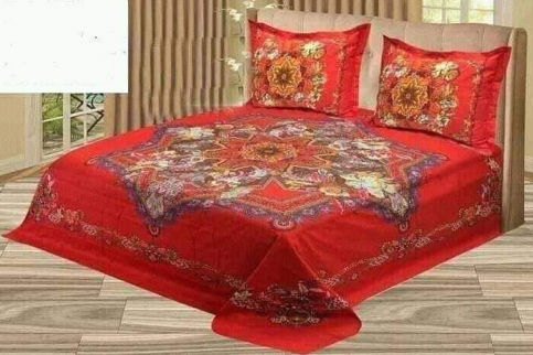 Double Size Bed Sheet with Two Pillow Cover