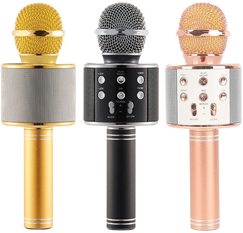 Portable Q7 Rechargeable Bluetooth Speaker Microphone Mic