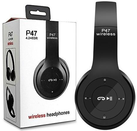 P47 Wireless Headphone with FM Radio