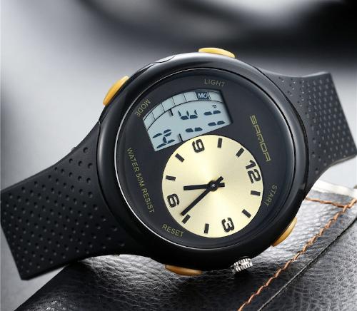 Sanda 763 Digital Waterproof Sport Watch for Men