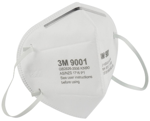 3M 9001 KN90 Disposable Respirator Mask