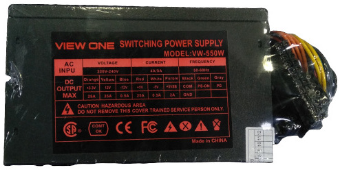 View One VW-550W Computer Power Supply