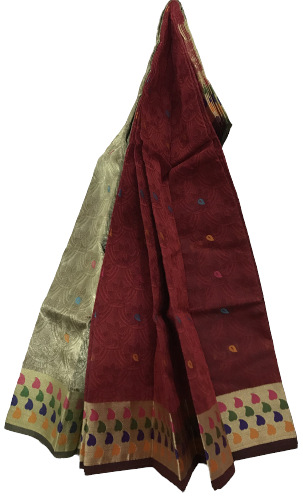 Half Silk Lurex Thread Party Saree
