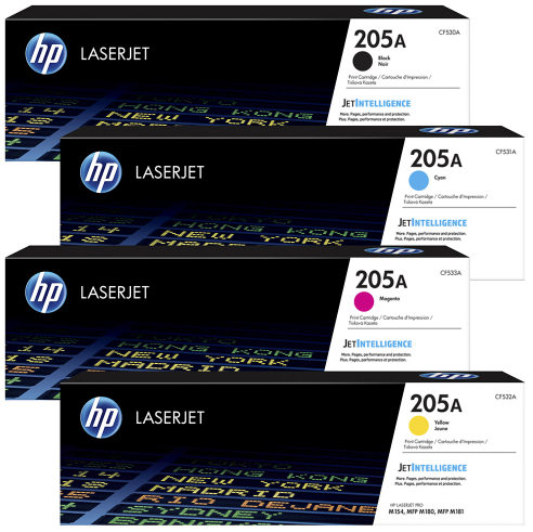 HP 205A Toner Set Black / Yellow / Magenta / Cyan