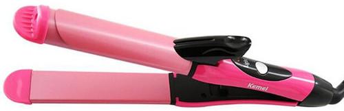 Kemei 2-In-1 Hair Straightener Iron
